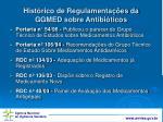 hist rico de regulamenta es da ggmed sobre antibi ticos