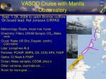 vasco cruise with manila observatory