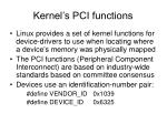 kernel s pci functions