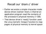 recall our dram c driver