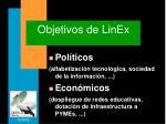 objetivos de linex
