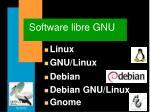 software libre gnu