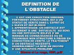 definition de l obstacle