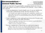 recommendations general public survey