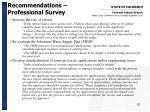 recommendations professional survey1