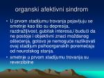 organski afektivni sindrom