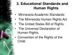 3 educational standards and human rights