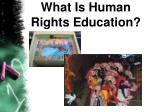 what is human rights education