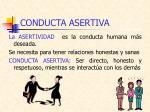 conducta asertiva