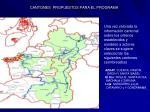 cantones propuestos para el programa