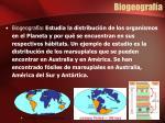 biogeograf a