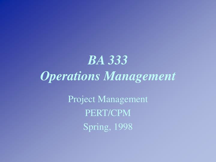 ba 333 operations management n.