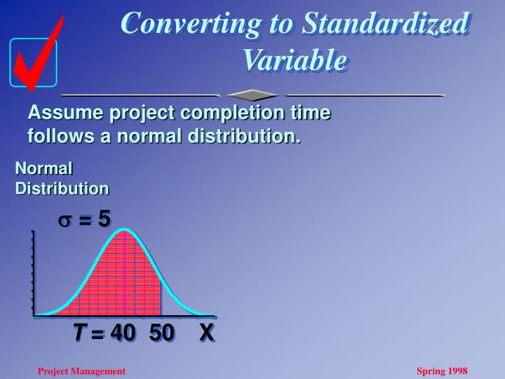 Converting to Standardized Variable
