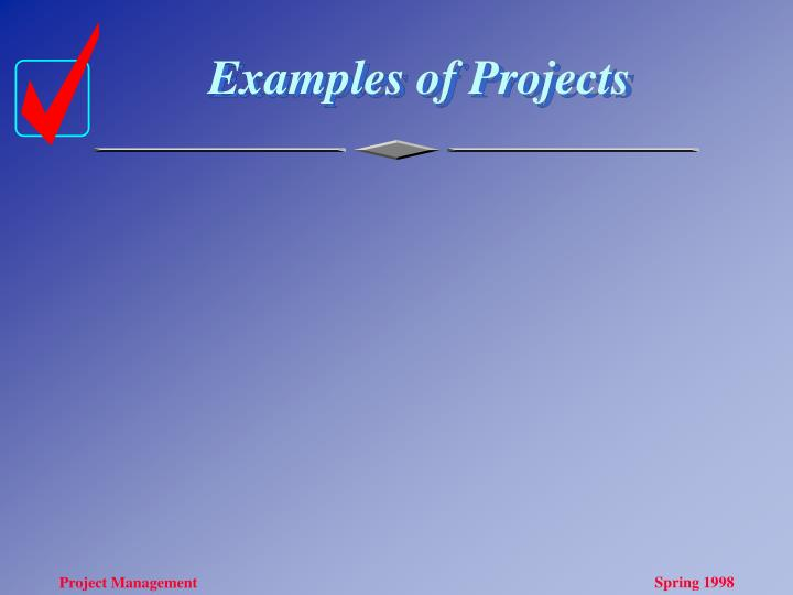 Examples of Projects