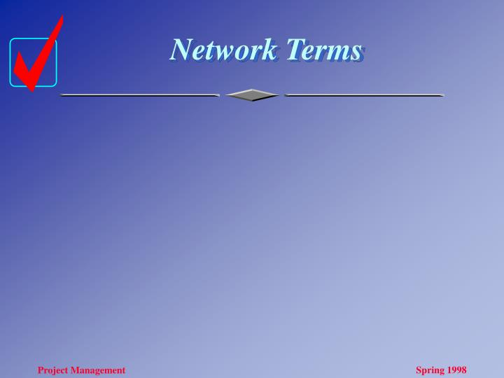 Network Terms