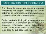 base dados bibliografica