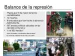 balance de la represi n