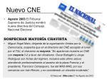nuevo cne