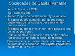 sociedades de capital variable