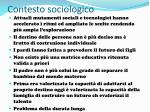 contesto sociologico