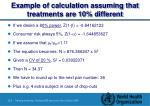 example of calculation assuming that treatments are 10 different