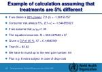 example of calculation assuming that treatments are 5 different