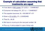 example of calculation assuming that treatments are equal1