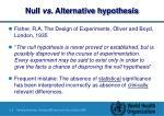 null vs alternative hypothesis