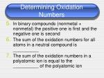 determining oxidation numbers1