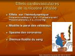 effets cardiovasculaires de la nicotine inhal e