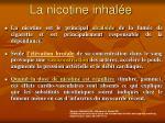 la nicotine inhal e