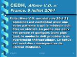 cedh affaire v o c france 8 juillet 2004