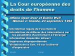 la cour europ enne des droits de l homme