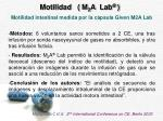motilidad m 2 a lab