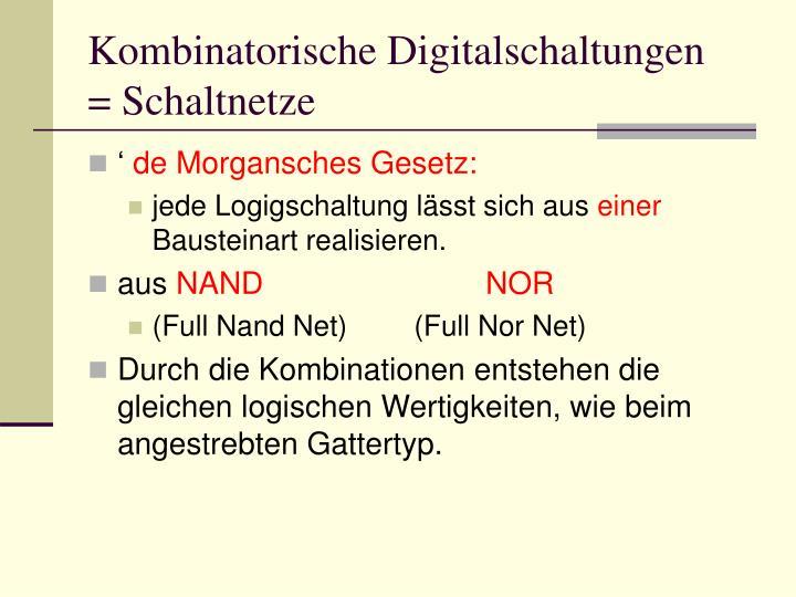Kombinatorische Digitalschaltungen