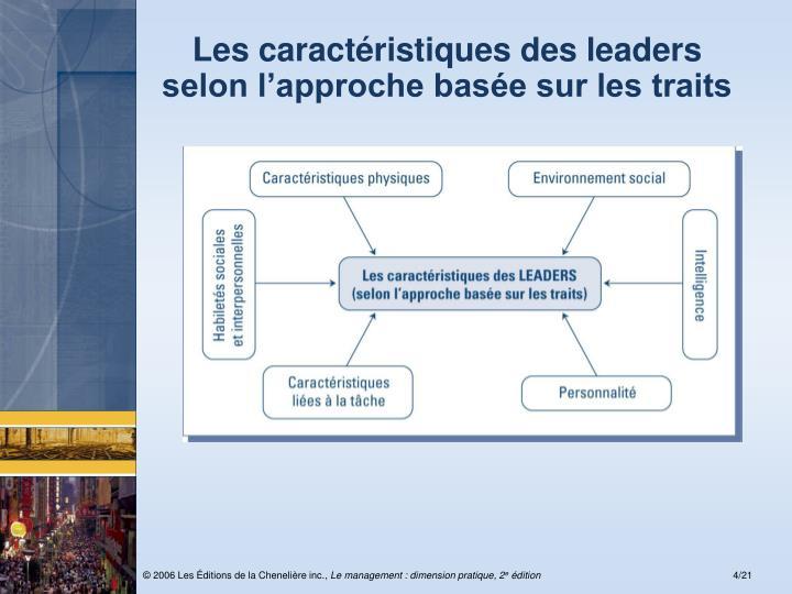 Les caractéristiques des leaders
