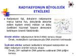 radyasyonun b yoloj k etk ler1