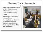 classroom teacher leadership