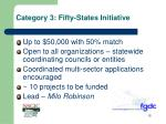 category 3 fifty states initiative1
