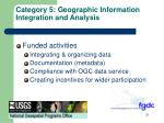 category 5 geographic information integration and analysis2