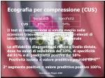 ecografia per compressione cus