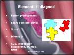 elementi di diagnosi