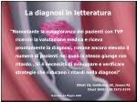 la diagnosi in letteratura1