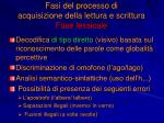 fasi del processo di acquisizione della lettura e scrittura fase lessicale