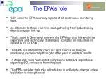 the epa s role