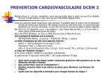 prevention cardiovasculaire dcem 3
