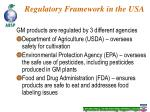 regulatory framework in the usa
