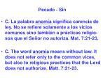 pecado sin5