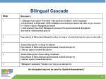 bilingual cascade