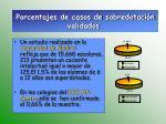 porcentajes de casos de sobredotaci n validados